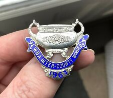 More details for vintage ewba bowling silver pin badge sports lawn green bowls 1963 winners