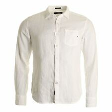 Linen Long Sleeve No Pattern Collared Men's Casual Shirts & Tops