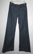 CAbi #183 Wide Leg Trouser Denim Jeans Size 2 Inseam measures Flaw