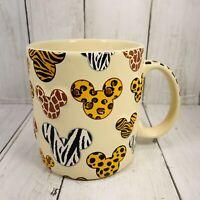 Disney Parks Animal Kingdom 3D Animal Print Mickey Ears Safari Coffee Mug