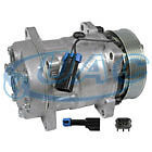 U4618 New AC Compressor 7 Groove clutch, replaces Sanden SD7H15 GM # 15956082