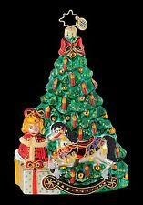 RADKO 1015050 ON CHRISTMAS MORNING - TREE - ROCKING HORSE - RETIRED ORNAMENT