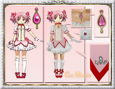 Japan Anime Puella Magi Madoka Magica Madoka Kaname Costume  Deluxe Set
