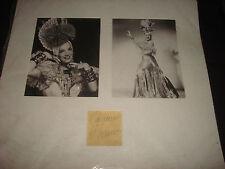 Carmen Miranda (d.1955) Brazil Chiquita Banana Cuba Signed Matted Autograph DM