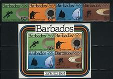 Olympics by Barbados MNH Sc 623-26a Value $ 17.00