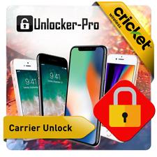 Cricket Factory Unlock Service iPhone  6 6+ 6s 6s+ 7 7+ 8 8+ X XR XS 11 11PRO