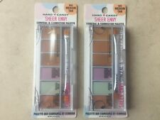 LOT OF 2 HARD CANDY Sheer Envy Conceal & Corrector Palette #942 Medium Tan ~ NEW