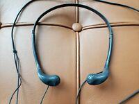Vintage Sony MDR-W08 Walkman Headphones Gray - Tested Working