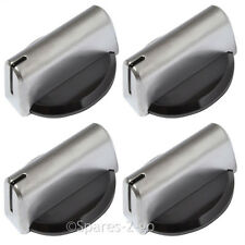 4 x BAUMATIC Genuine Oven Cooker Knob Grill Hob Switch Dial Silver Black