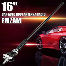 16'' Car Auto Roof Antenna Radio FM/AM Signal Booster Amplifier Aerial Whip Mast