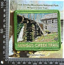 VINTAGE MINGUS CREEK TRAIL EMBROIDERED SOUVENIR PATCH WOVEN CLOTH SEW-ON BADGE