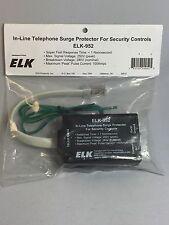 Elk Home Alarm Security In-Line Telephone Surge Protector ELK-952
