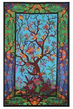 3D TAPESTRY-COLORFUL TREE OF LIFE-100% COTTON-60X90 WALL HANGING-FREE GLASSES 22