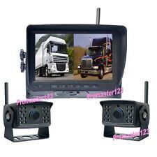 """2 x Digital Inalámbrico HD 1080P Cámaras de Marcha Atrás  +7"""" Coches DVR Monitor"""