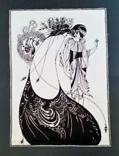 "Aubrey Beardsley, ""The Peacock Skirt"", Salome, Art Nouveau, Screen Print"