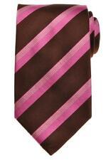 E. Marinella Napoli Tie Silk 57 1/4 x 3 5/8 Brown Pink Gray Stripe 07TI0129 $205