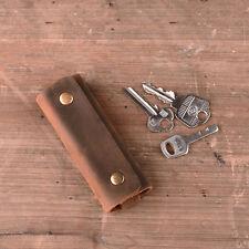 Handmade Top Grain Genuine Leather Vintage Wallet Key Ring Chain Car Holder Bag