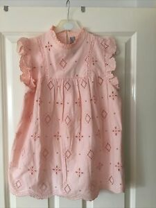BNWT Dorothy Perkins Broderie Anglaise Top Pink Size 8 / 36 / Small