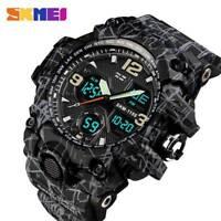 SKMEI Men's Army Military Sport LED Quartz Analog Digital Wrist Watch Waterproof