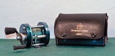 Vintage ABU Ambassadeur 5000-D Sweden in Leather Case w Oil Bttl
