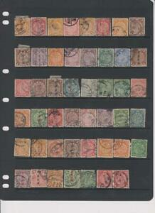 2161 China Coiling Dragons stock page 47 stamps mixed condition