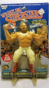 WWF LJN Wrestling Superstars Big John Studd - MOC - Encased