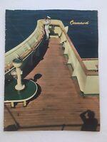 1963 Cunard RMS Queen Elizabeth Dinner Menu Cover August Cruise Line Ship