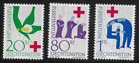 Liechtenstein Scott #376-78, Singles 1963 Complete Set FVF MH