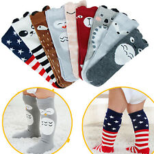 Baby Cute Cotton Knee High Anti-Slip Toddler Leg Warm Unisex Stockings for 0-3Y