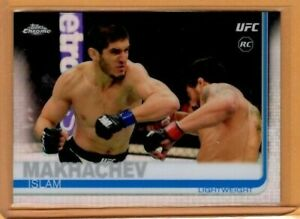 2019 Topps UFC Chrome REFRACTOR RC Islam Makhachev ROOKIE card MMA