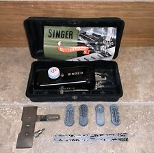 Singer Sewing Machine Buttonholer 4 Attachments Case & Manual 160506 Made In USA