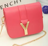 2016 Women Messenger PU Leather bag Crossbody Satchel Shoulder Handbag Chain bag