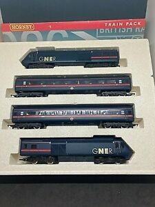 HORNBY OO R2000 GNER TRAINS 125 HST TRAIN & COACH PACK 43118/43117/42192/42191