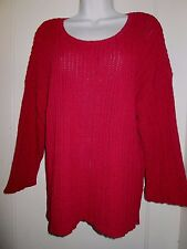 bbf8dd6f993 Gudrun Sjöden Sjoden Sz L chunky knit cotton sweater dark coral salmon pink  XLNT