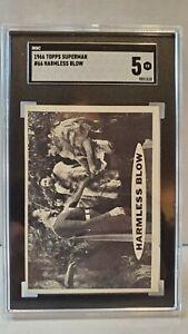 1966 TOPPS SUPERMAN #66 HARMLESS BLOW SGC 5 (comp PSA BGS)