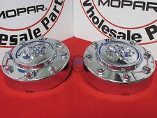 Dodge Ram 3500 Dually Chrome Front Center Hub Cap Wheel Covers X2 NEW OEM MOPAR