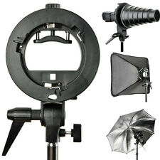 Godox S-Type Speedlite Flash Snoot Softbox Umbrella Bracket Bowens Mount Holder