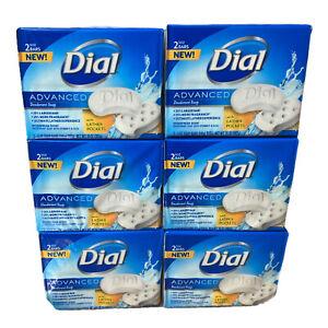 Lot of (6) Dial Advanced Deodorant Soap 2 Bars 5 oz. Hydrofresh Scent -12 bars-