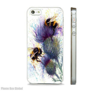NEW WATERCOLOUR BEES ART NATURE PHONE CASE COVER FITS All APPLE IPHONE MODELS