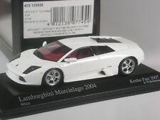 CLASSE: MINICHAMPS Japon LAMBORGHINI MURCIELAGO Blanc Kosho Fair 2007 1:43 dans neuf dans sa boîte