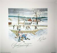 Guy Lafleur & Yvan Cournoyer Dual Signed Where Legends Begin 10x10 Lithograph