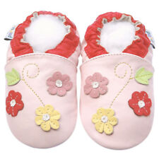Soft Sole Leather Baby Shoes First Walking Crib Girl Infant Girl FlowerPink 0-3M