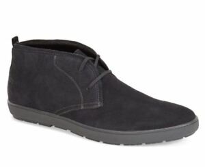 Calvin Klein Men's Nowles Suede Chukka Boots Dark Grey