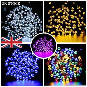 50-500 LED Solar Powered Fairy String Lights Xmas Party Garden Outdoor Indoor UK
