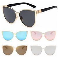 Retro Cat Eye Sunglasses Vintage Women Shades Oversized Designer Glasses Eyewear