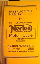 1938 Insruction Manual For Norton Motor Cycle Detailed Illustrated,W/ Photos Etc