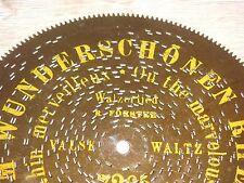 """Am wunderschönen Rhein Gloriosa Blechplatte 19,5cm antique music box disc 7 5/8"""""""