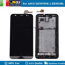 LCD DISPLAY ASUS ZENFONE 2 ZE551ML VETRO SCHERMO TOUCH SCREEN Z00AD NERO FRAME