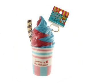 Sammy the Patissier Blue Strawberry Frosty Kawaii Squishy Charm Rare Squishy Toy