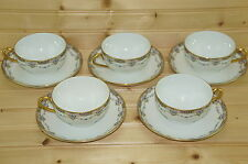 "Lewis Strauss LS&S LSS2 Limoges-(5) Cups, 2"" & (5) Saucers, 5 3/4"""